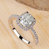 Hot Womens Brand Jewelry White Sapphire 925 Silver Filled Wedding Ring Size 5 9 - Victoria Vault