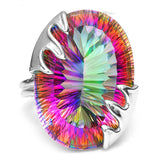 Rainbow Fire Mystic Topaz Silver Ring - Victoria Vault