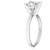IGI Certified 18k White Gold Classic Princess-Cut Diamond Engagement Ring - Victoria Vault