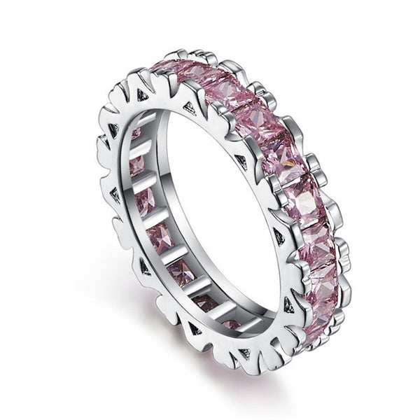 Pink Topaz Pave Band / Ring - Victoria Vault