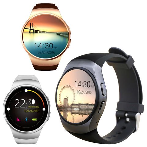 Bluetooth Smart Watch Heart Rate Monitor Connected Andriod Phone Sim Card With Camera