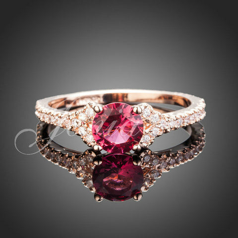 Austrian iridescent Crystal MONTED on a Distinctive Encrusted Ring - Victoria Vault