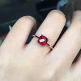 Classic Natural garnet ring with certification