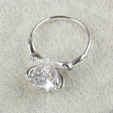 The Queens Vault-Super Shiny 5A Zircon Real Solid 925 Sterling Silver Ring