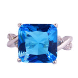 New Fashion Rings Saucy Blue Topaz 925 Silver Ring For Anniversary Size 6 7 8 9 10 - Victoria Vault