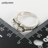 The Innocent Promise Green Add White Ring