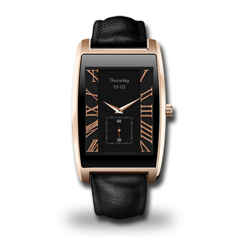 "Classic design 4.0 Waterproof IP65 with Pedometer Heart Rate 1.61"" IPS Smartwatch for iOS Android Smartphone looks just like the fine fashion old school watches.  Very versatile watch made with only the best materials.  Comes in silver and gold!!! - Victoria Vault"
