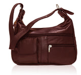 AFONiE Soft Genuine Lamb Skin Leather Shoulder Bag