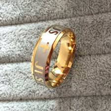 Gold Plated Christian Faith Ring - Victoria Vault
