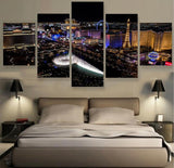 Las Vegas Strip 5 Pieces Modern Wall Art Canvas Painting