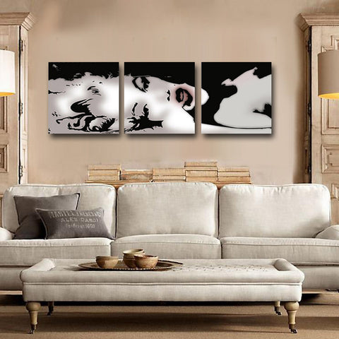 3 Panel Sexy Marilyn Monroe Oil Wall Painting