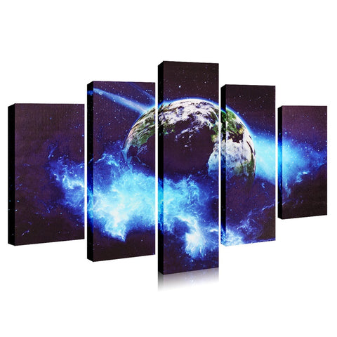 5 Panel Modern Abstract Earth Pattern Canvas Painting