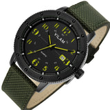 Relogio Carbon-fiber Waterproof  Army Green Masculine Clock