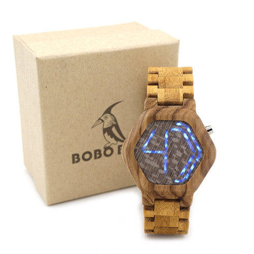 Awesome tech added to BOBO BIRD LED Digital Watch. Kisai Night Vision Design - Victoria Vault
