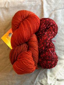 Caterpillar Scarf Kit: Carnelian