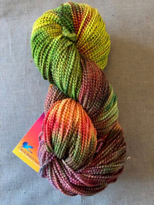 Deep Meadow beaded merino wool metallic yarn