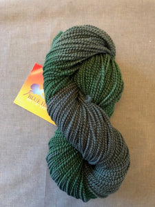 Evergreen merino beaded wool yarn