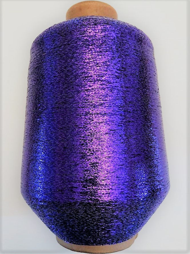 1 lb. cone of vintage metallic fine yarn: Grape