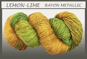 Lemon-Lime Rayon Metallic Yarn