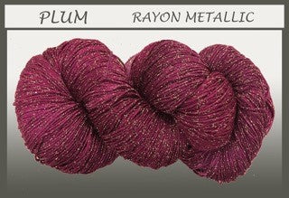 Plum Rayon Metallic Yarn