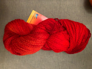 Red Coral Soft Twist Wool Yarn