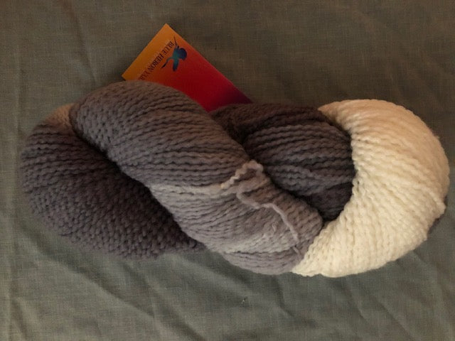 Silver Ombre Soft Twist Wool Yarn