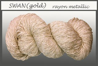 Swan/Gold Rayon Metallic Yarn