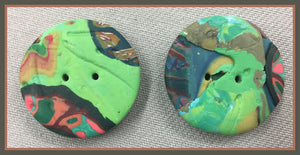 Buttons: Green Fossils #17