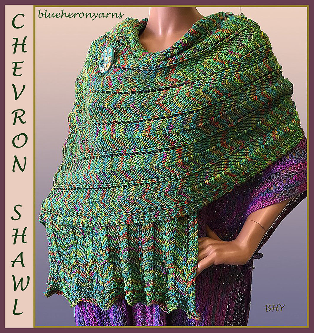 Chevron Shawl:(ykp)