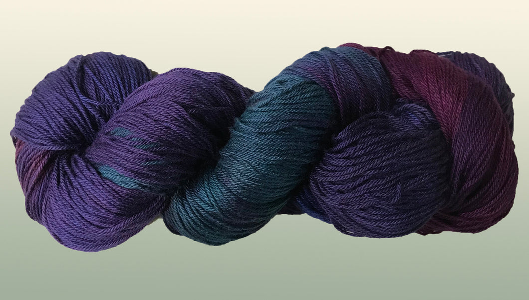 Bamboo/Organic Cotton: Eggplant NEW YARN!