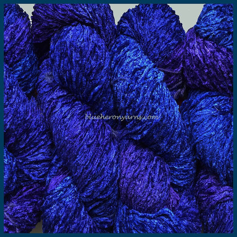 Blue Violet Bulky Rayon Chenille Yarn