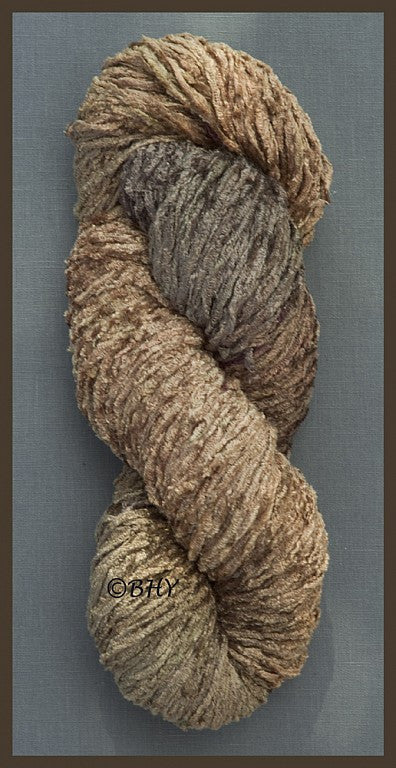 Milk Chocolate Bulky Rayon Chenille Yarn