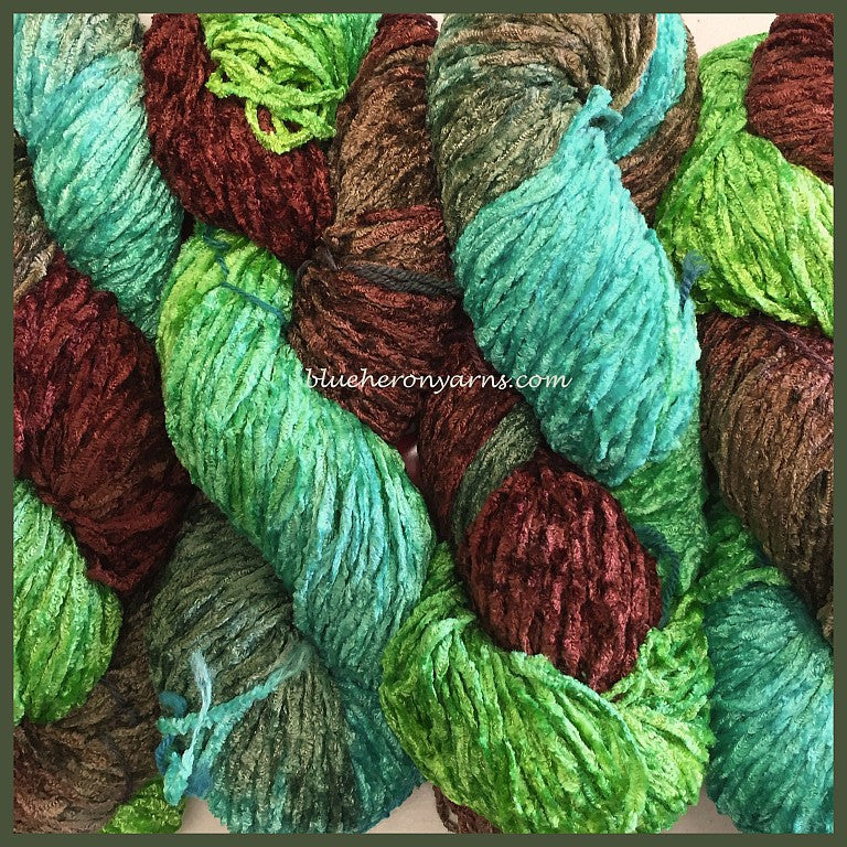 Turquoise Bulky Rayon Chenille Yarn