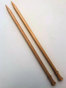 "Brittany 14"" single point needle US 13/9.0 mm birch knitting needles"