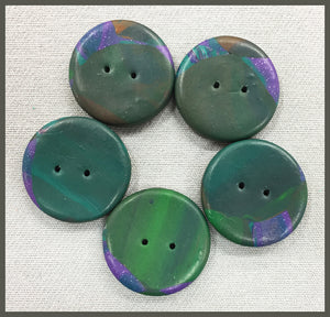 "Buttons: ""Marble"" Fuchsia/Green #3"
