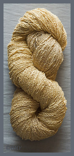 Antique Gold Cotton Rayon Seed Yarn