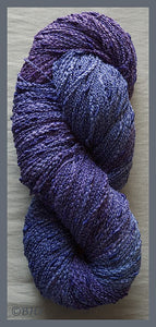 Blue Violet Cotton Rayon Seed Yarn