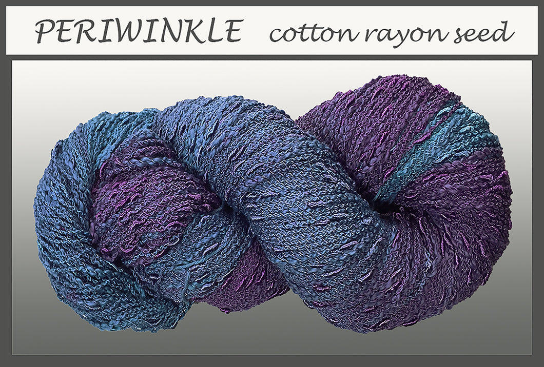 Periwinkle Cotton Rayon Seed Yarn
