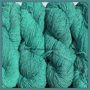 Robin's egg Blue Cotton Rayon Seed Yarn