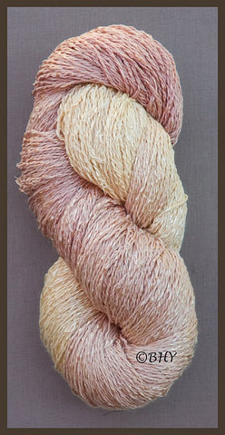 Pink Pearl Cotton Rayon Twist Lace Yarn
