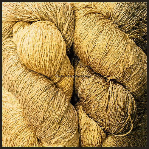 Antique Gold Cotton Rayon Twist Lace Yarn