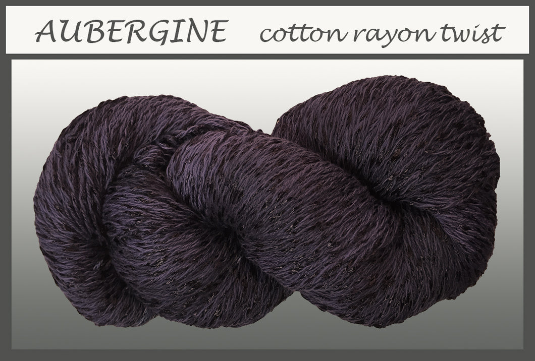 Aubergine Cotton Rayon Twist Yarn
