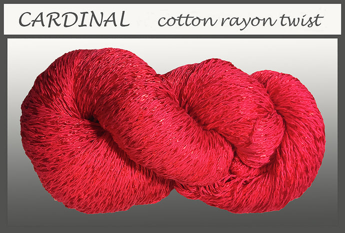 Cardinal Cotton Rayon Twist Yarn