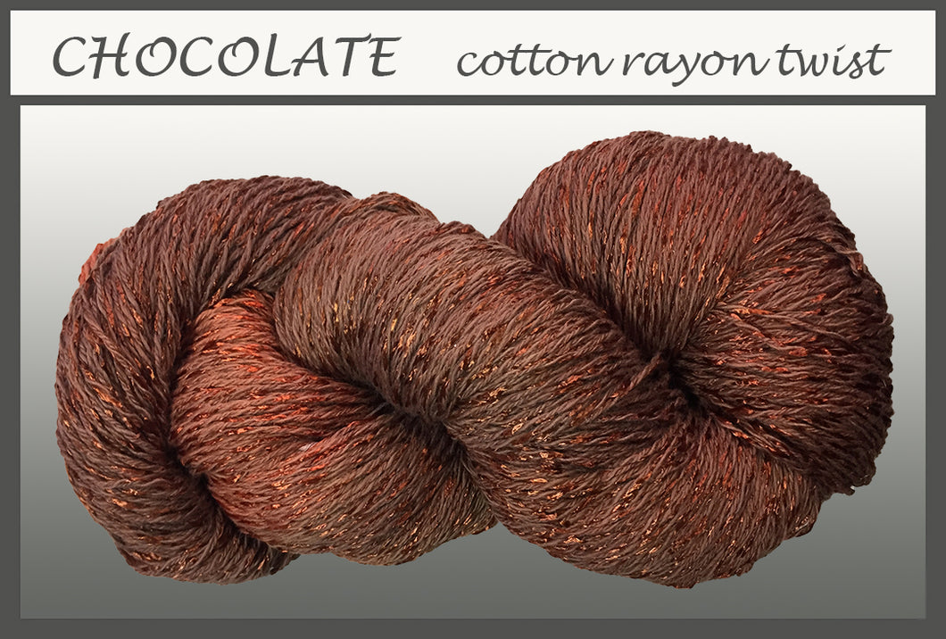 Chocolate Cotton Rayon Twist Yarn