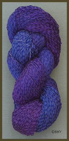 Blue Violet Cotton Rayon Twist Lace Yarn