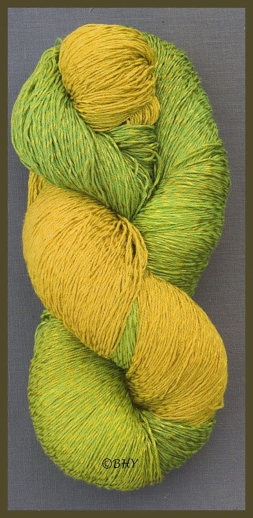 Lemon-Lime Cotton Rayon Twist Yarn