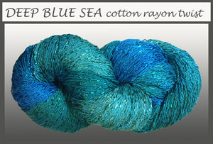 Deep Blue Sea Cotton Rayon Twist Yarn