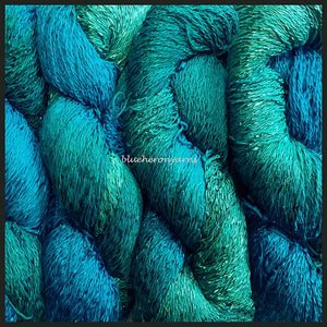 Deep Blue Sea Cotton Rayon Twist Lace Yarn