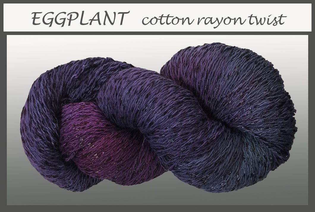 Eggplant Cotton Rayon Twist Yarn