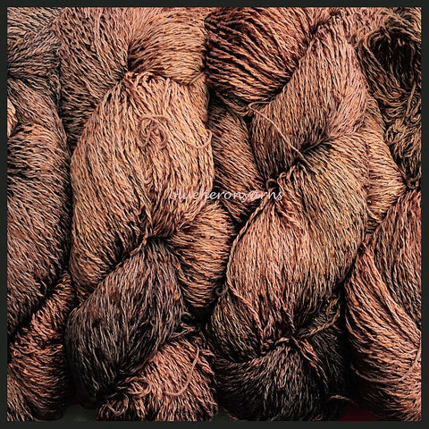 Milk Chocolate CottonRayon Twist Lace Yarn